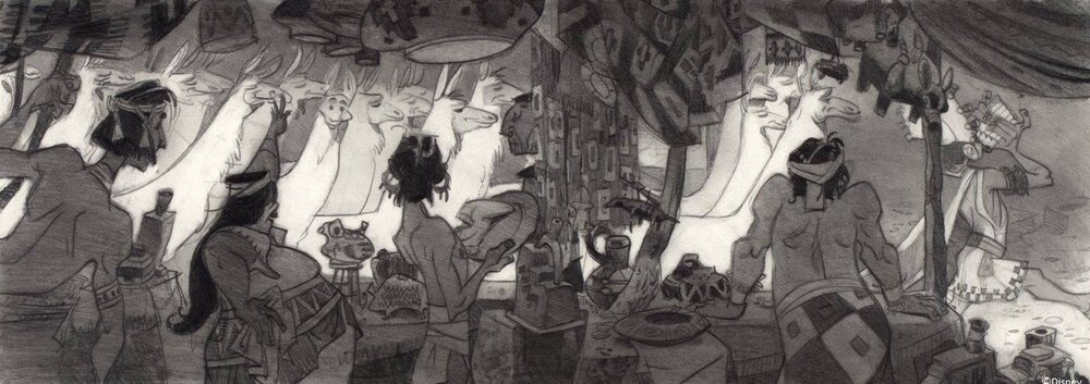 Kuzco, l'Empereur Mégalo [Walt Disney -2001] - Page 6 Art+of+the+Emperor%27s+New+Groove+E+-+75