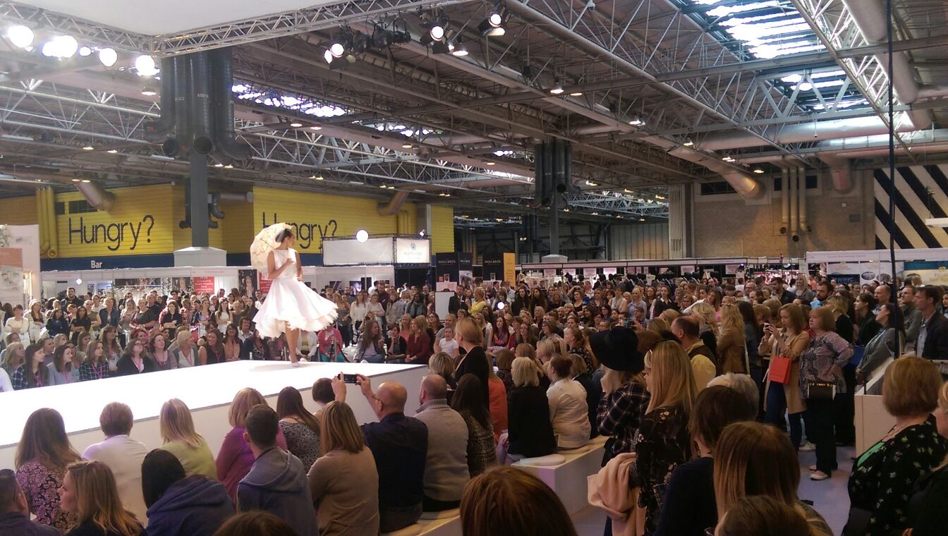 One of the beautiful designs on the catwalk at this year's show.