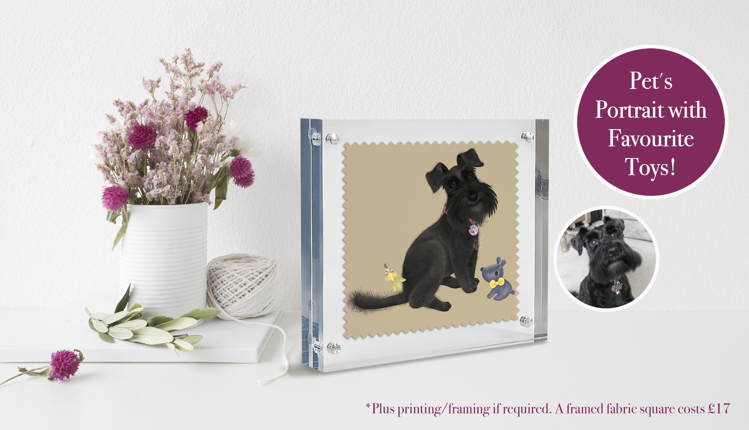 Pet's Portraits - £100 (x1 pet illustrated from head to toe).