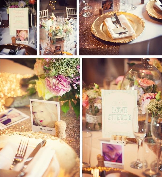 Lyndsey and Jamie also chose coordinating table name cards for each of their tables and decorative menus.Photos -  October Willis