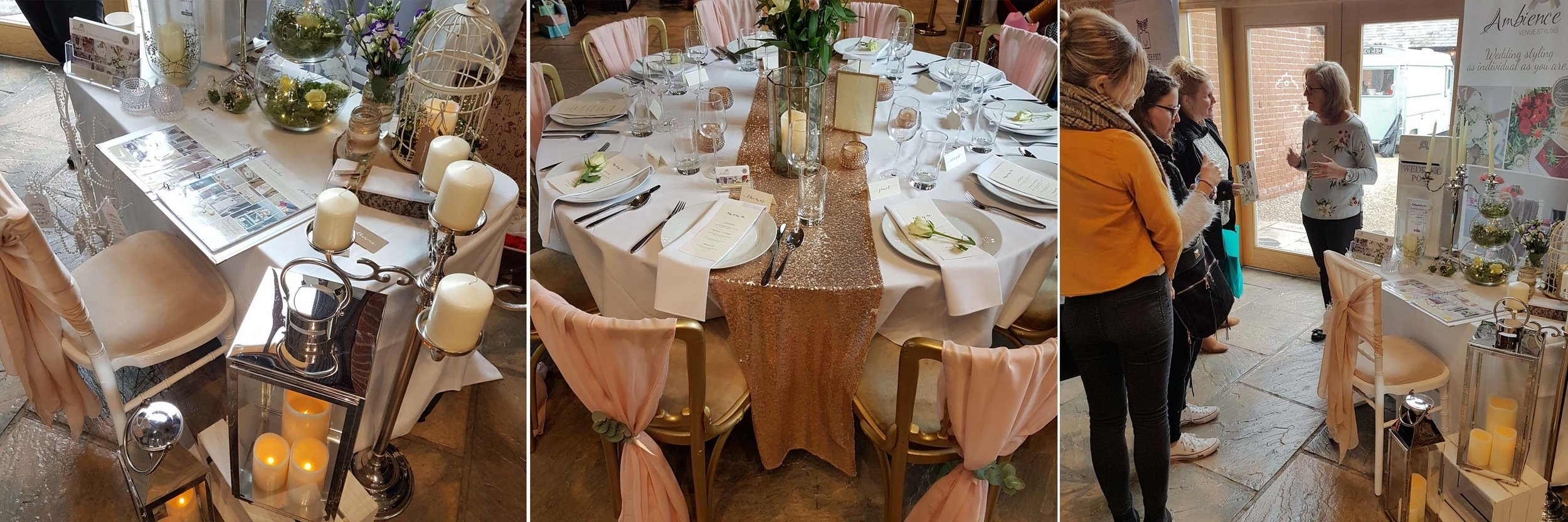 Beautiful gold and blush colour-scheme from the lovely Tina at  Ambience Venue Styling .