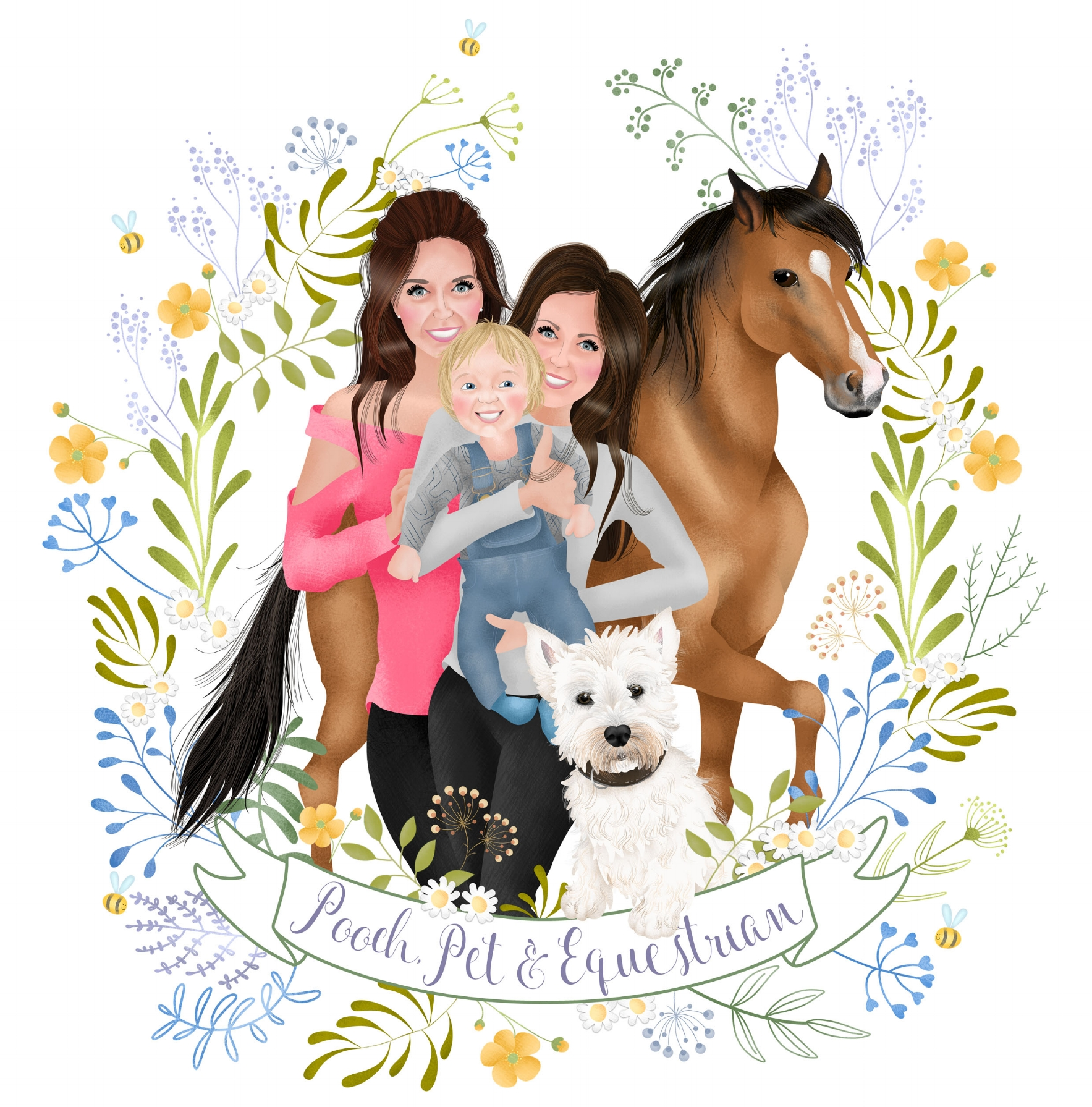 POOCH PET AND EQUESTRIAN - BESPOKE ILLUSTRATION - A4.jpg