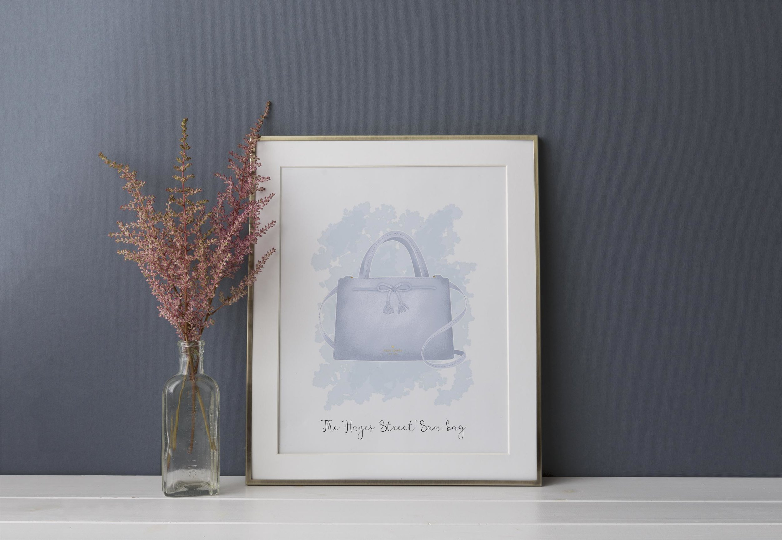 """The """" Hayes Street Sam """" bag in """"morning dawn""""colour."""