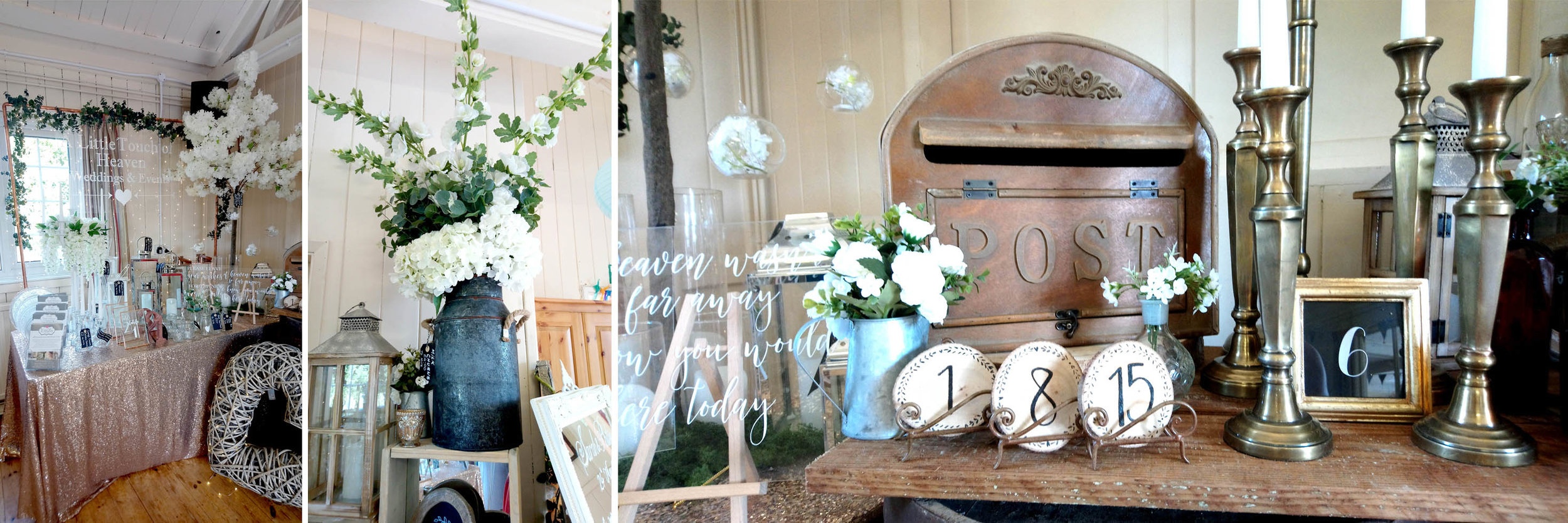 Striking, feminie prop hire, venue styling and sign-wriitng from  A Little Touch of Heaven  and one of my pesonal favourite gift shops –  Emzo  in Cotton.