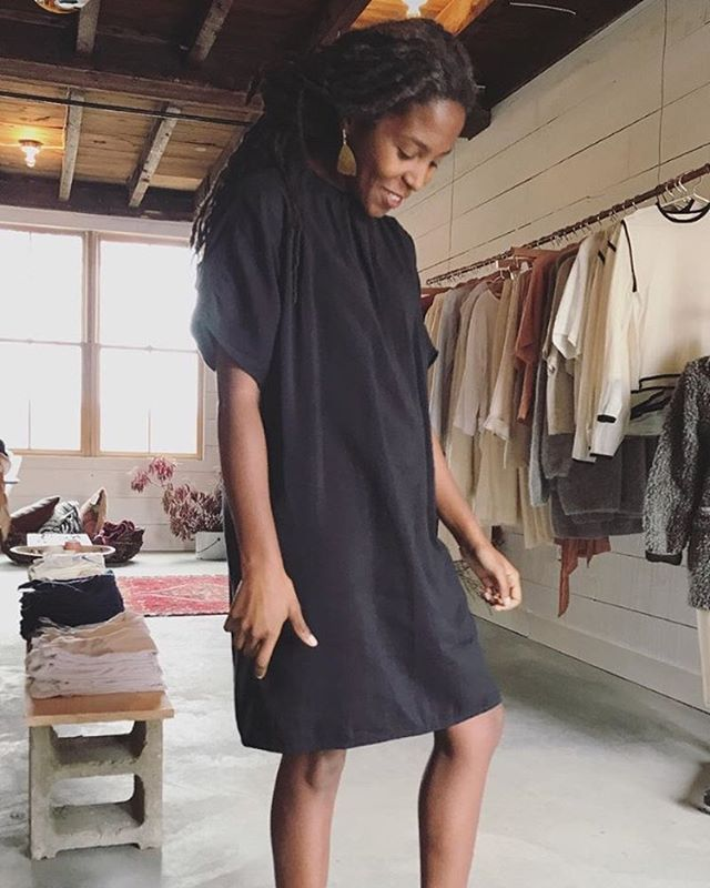Love love love seeing ETL on new faces! @aishaburnsmusic looking sweet as can be in our one of a kind Pax dress 🖤