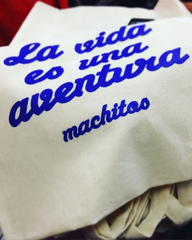 "💖 Special message to our awesome backers ➡️ Tote bags ""La vida es una aventura"" are in progress 💥🤘🌈 #lavidaesunaaventura #machitosbackpack #KICKSTARTER #Handmade #vibrant #backpack #madeinperu #HechoConAmor #craftsmanship"