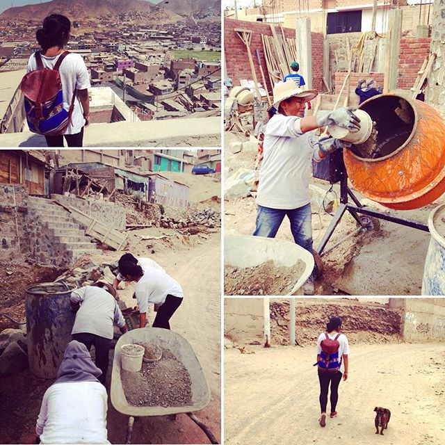 "So proud to be part of the ""Woman builders project"" based in La Ensenada #ManoAMano #trapiche #comas #lima #peru #backpackforbarrios #Handmade #backpack #madeinperu #lavidaesunaaventura"