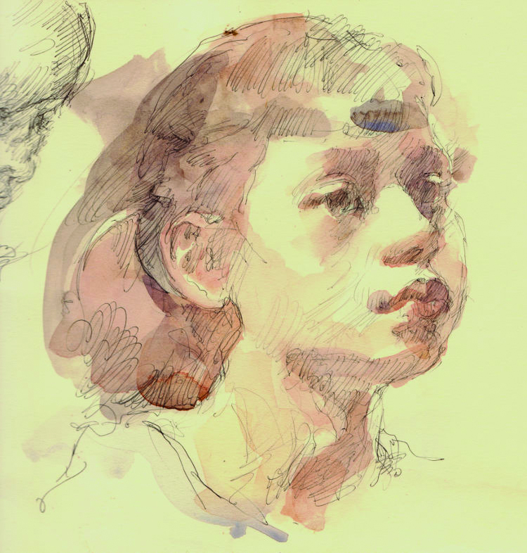 You can learn how to add washes with watercolours to drawings in pen or pencil to add more depth, atmosphere and expression to your portraits