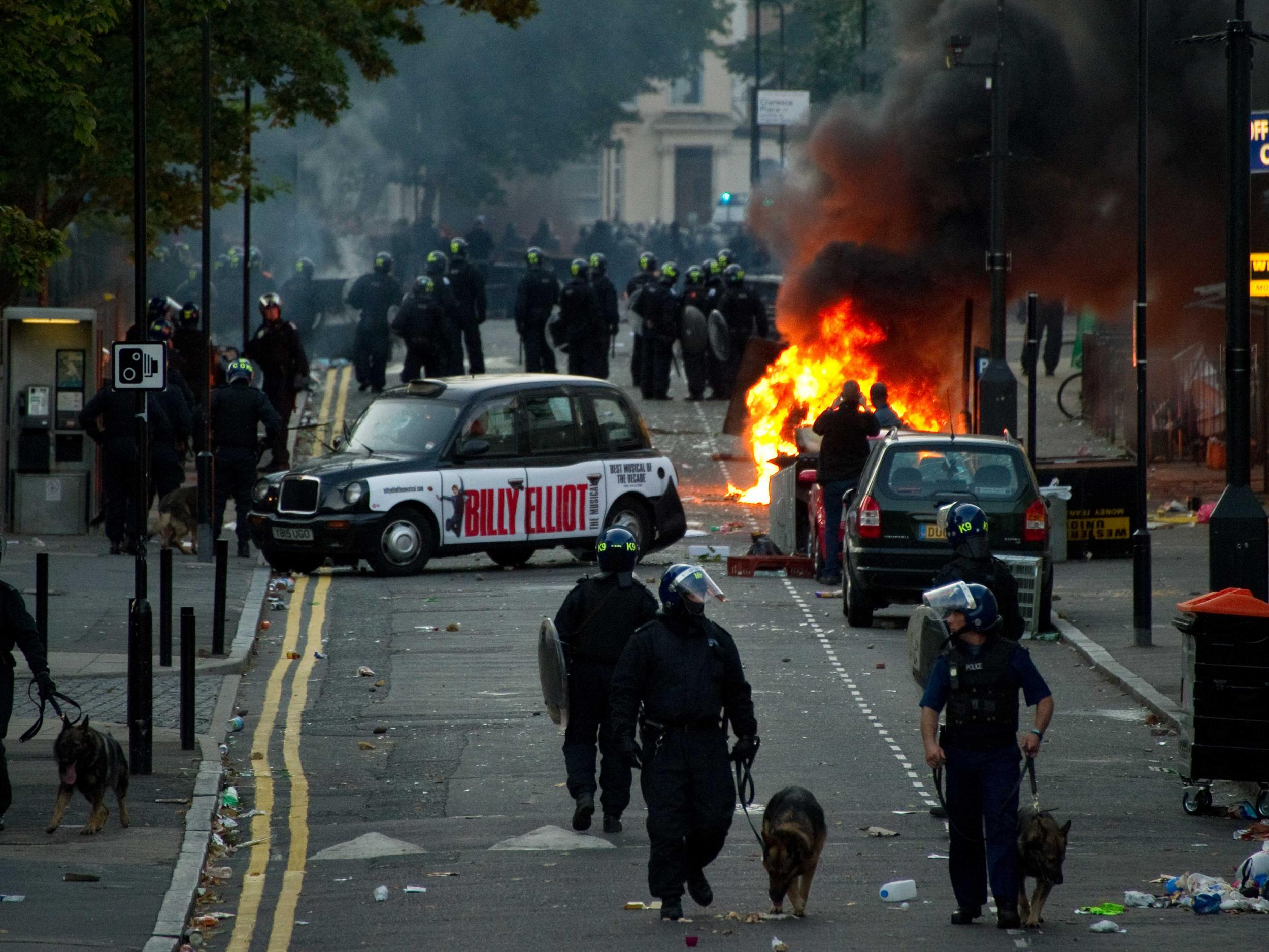 The riots in London in 2011