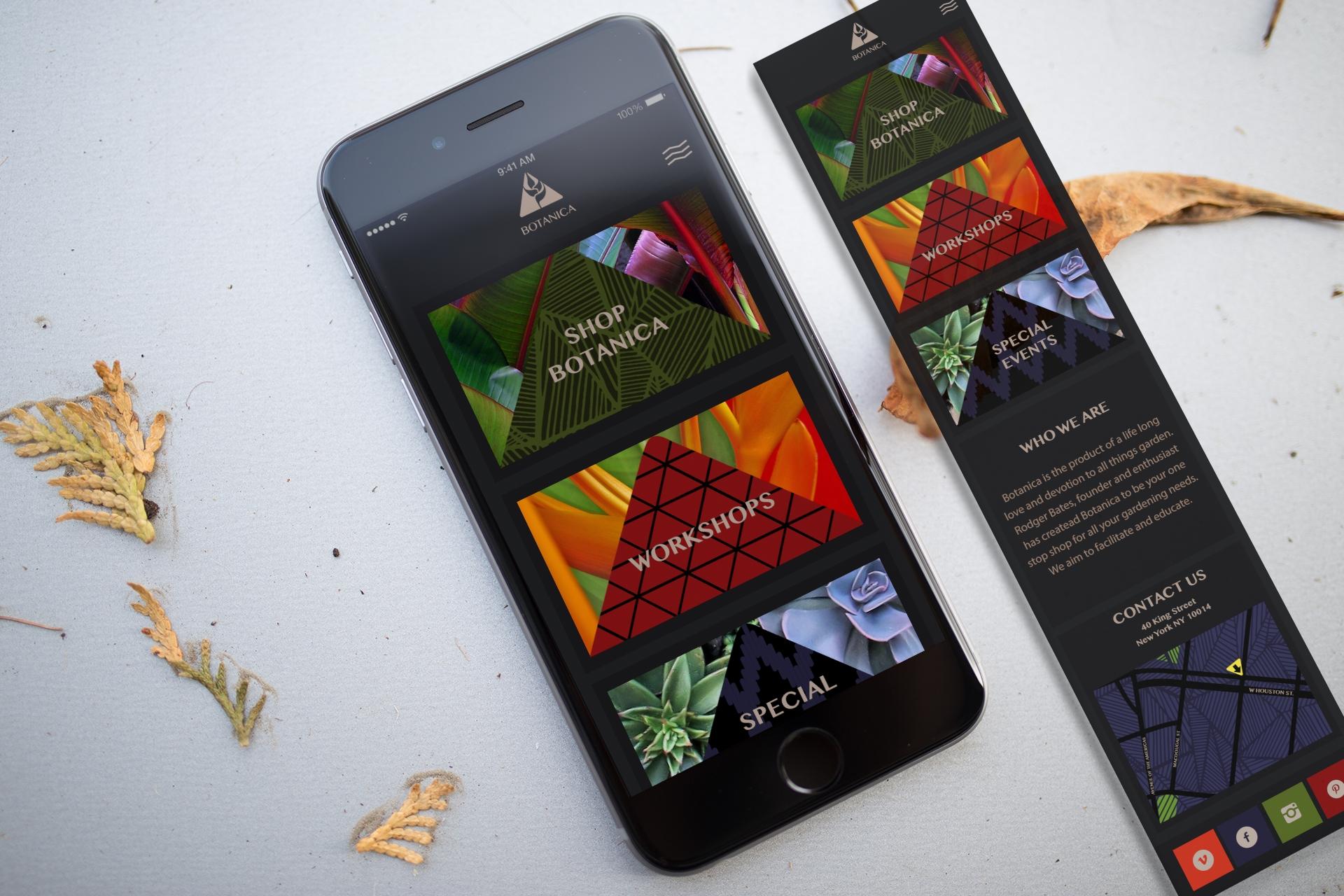 Botanica App Layout