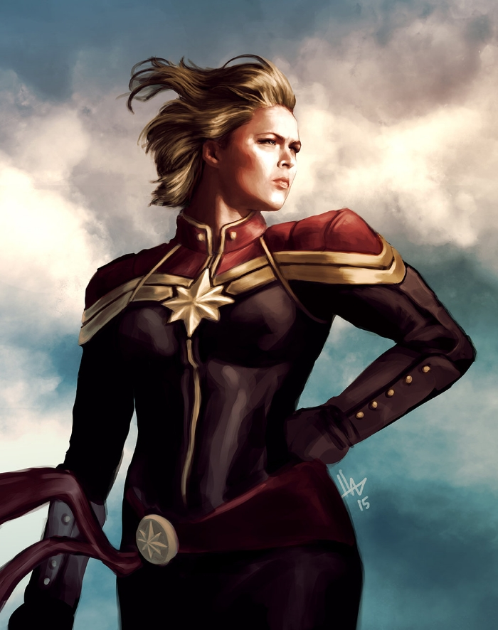 Ronda Rousey as Captain Marvel by Hugo Hugo