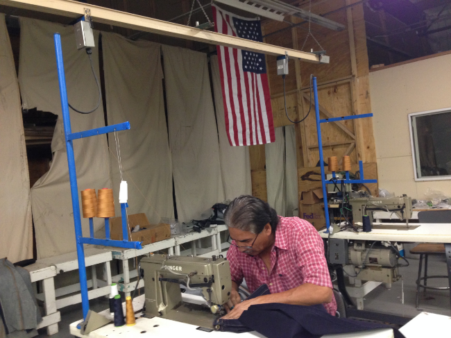 Andres Moran working on the Riding Denim at Tri-Americas