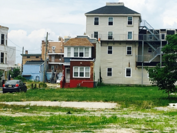 One of many free standing housing units to have survived failed development projects