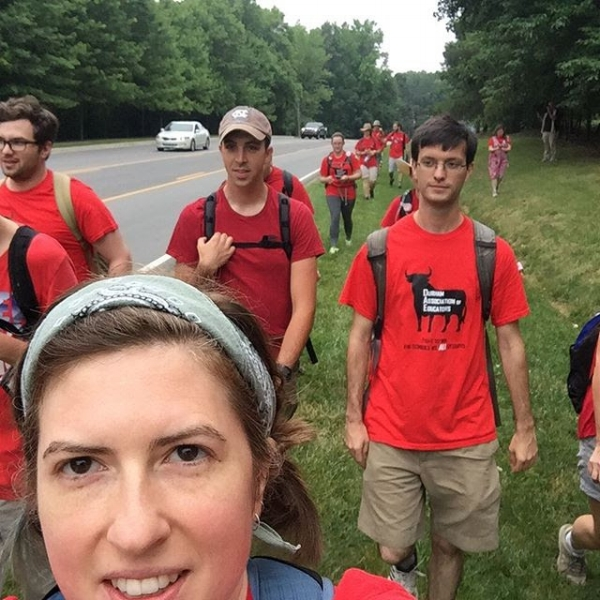 Mika on 23 mile march to Raleigh with supporters - Source: Instagram @mikajhunter