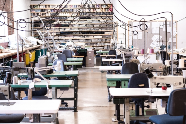 Sew Co. sewing room in Hendersonville, North Carolina