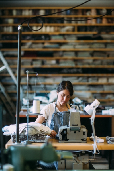 Photo of Libby O'Bryan, owner of Sew Co., courtesy of Tim Robinson