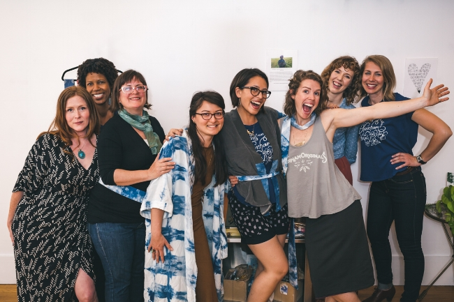 Lady founders and Liberation Threads team who brought Eco Style Pop-Up to life