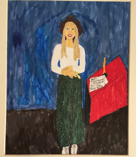 A drawing I made in 4th grade when I aspired to be a costume designer
