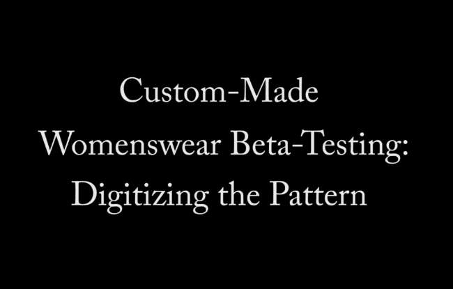 Click on the above video to view step 2 in the custom-made womenswear beta-testing