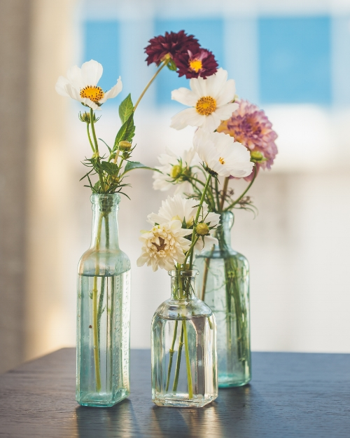 Floral arrangement by Lee Moore Crawford @Hanalee, photography by Maria Brubeck for Durham Hotel Launch Party