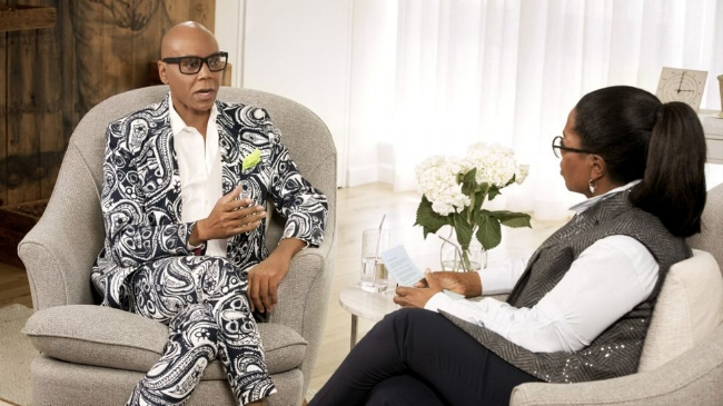 Oprah interview with RuPaul on SuperSOUL Conversations  here