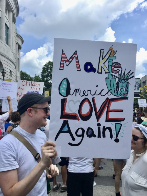 Favorite sign from Families Belong Together march in Raleigh