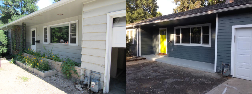 Exterior ~ Before and After