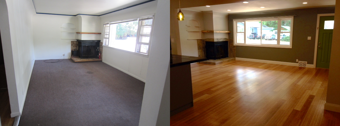 Living Room ~ Before and After