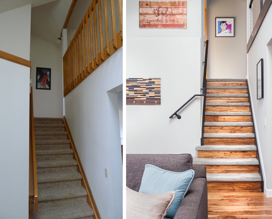 stairs before. stairs after.