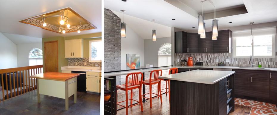 Kitchen Before. Kitchen After.