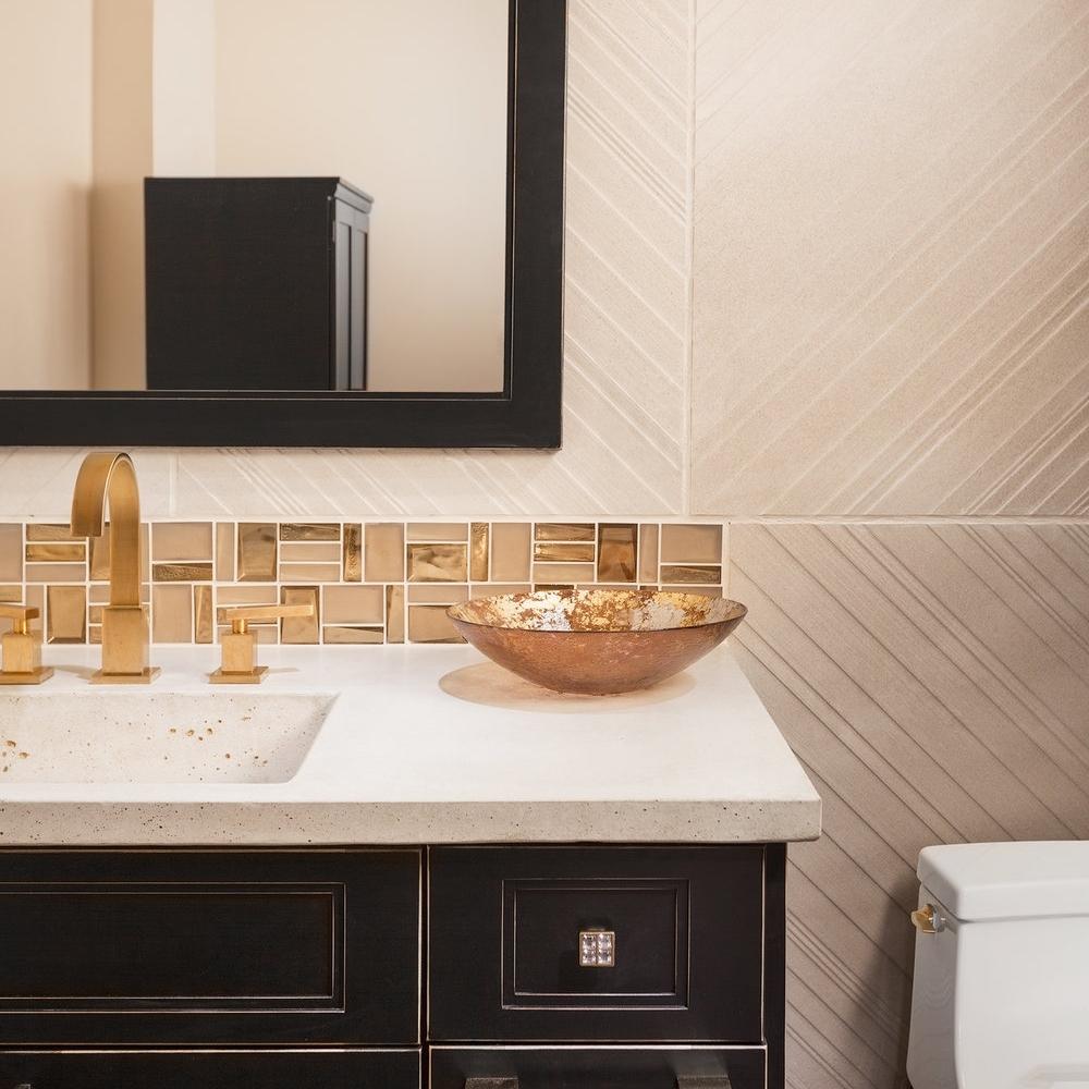 shiny. space.  bathroom remodel.