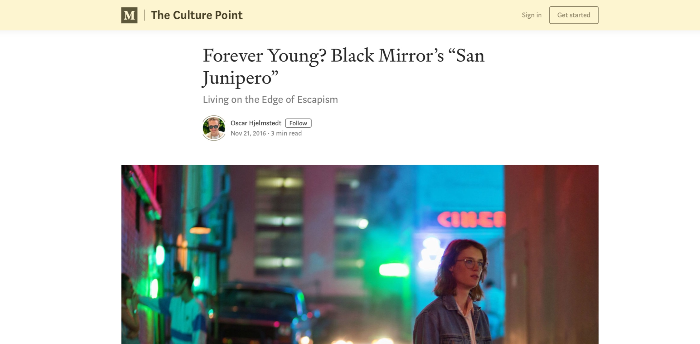 Article for The Culture Point