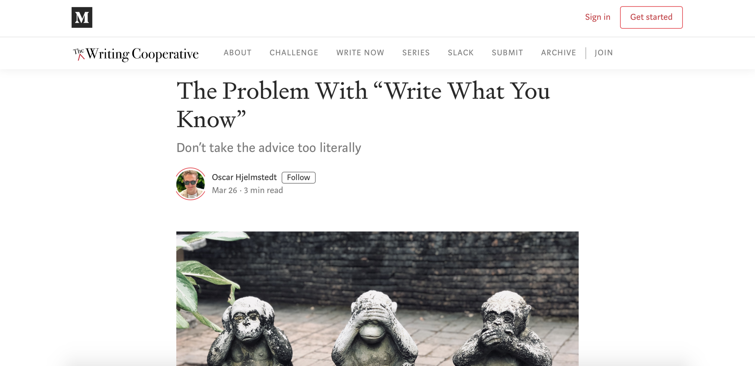 Article for The Writing Cooperative
