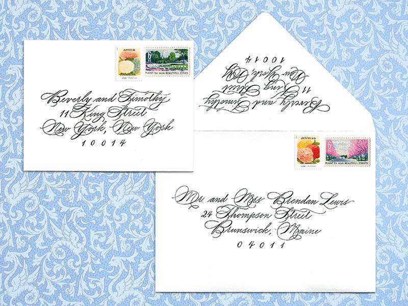 Envelop addressing  Outer envelope $4 per envelope, return address $3 per envelope  - Please contact me for details