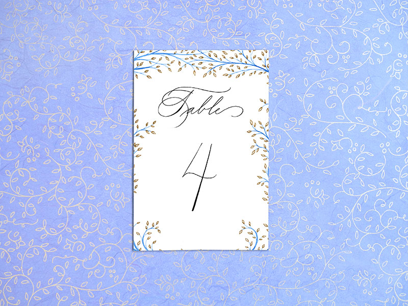 Table Numbers  $5 per card