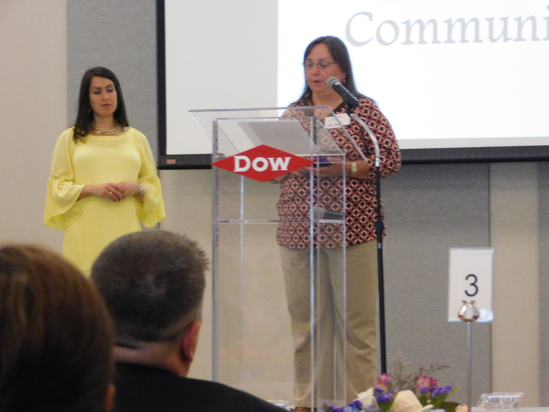 Lisa Owsley providing Food Basket information for DOW grant.JPG
