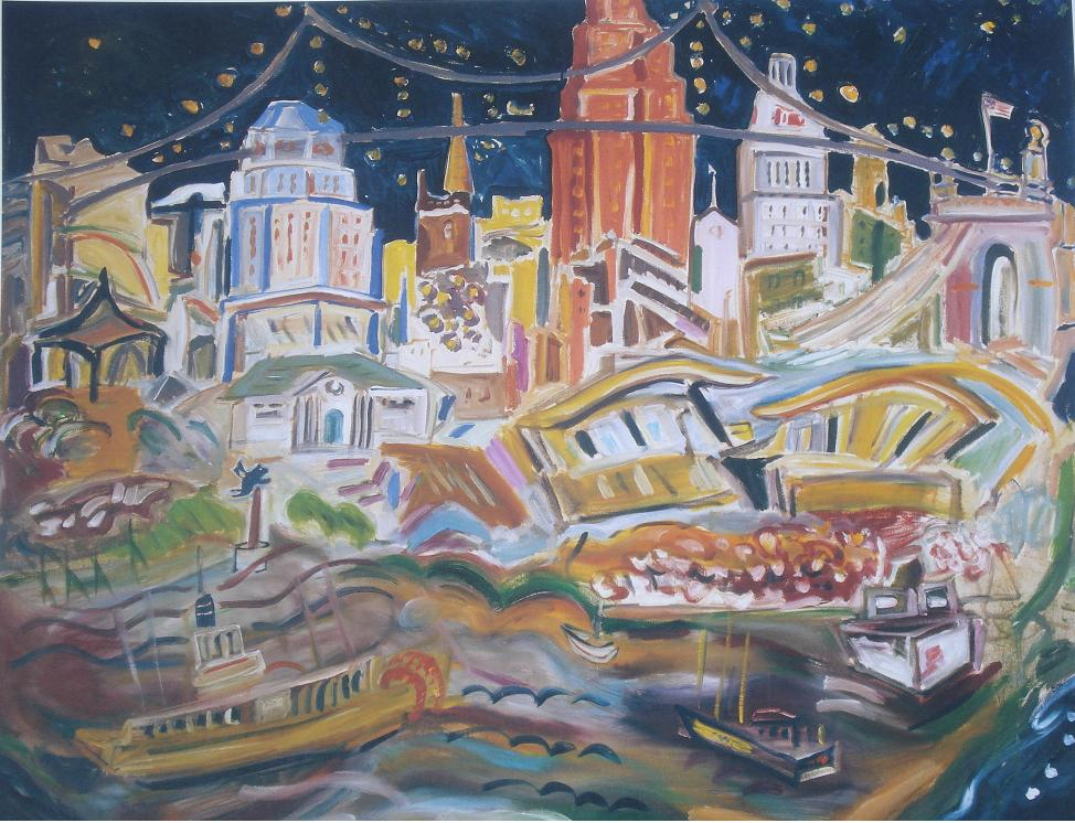"Cityscape $40 20""x24"" paper  Click here to purchase"