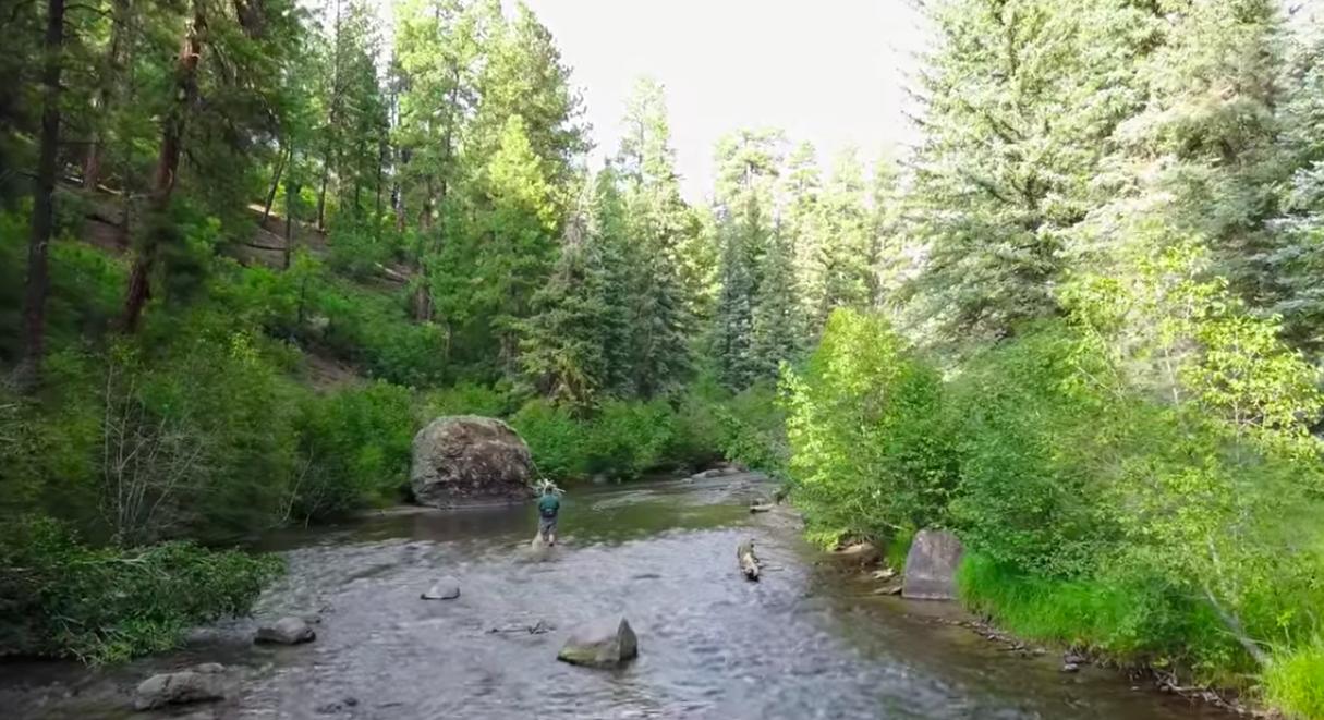 Colorado ranch with river