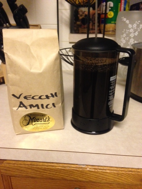 A very generous donation by Kasha K. gave me an  entire pound  of freshly roasted amazingness from my favorite local coffee shop. Thanks Kasha! ( Side note, if you're ever in Austin TX, please go to Mozart's ).