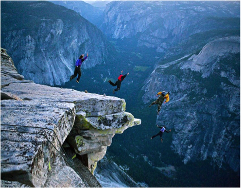 Think of journal club like base-jumping club, but you also determine p-values and confidence intervals at the same time! ( Image )