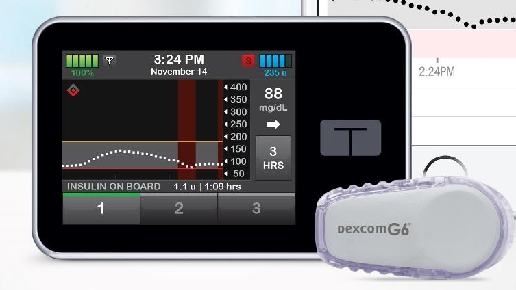3. Tandem Diabetes Care:  T:flex pump  and  T:slim X2 pump.  This is the T:slim X2.  (Image)
