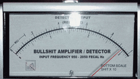 """Your BS Detector when you see the phrase """"approaching significance"""" in a trial summary. ( Image )"""