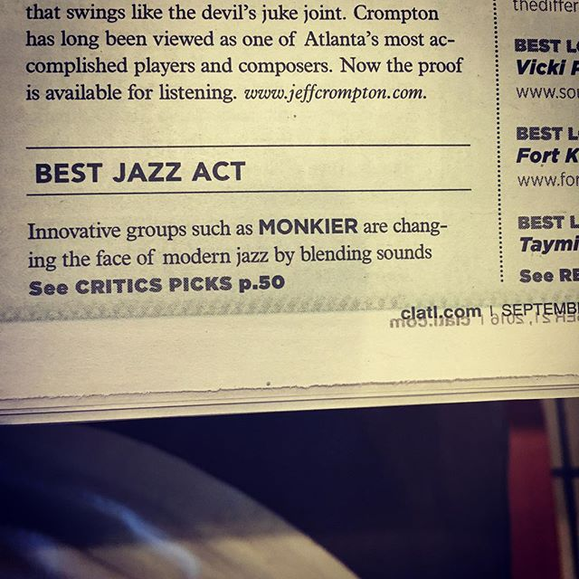 "Thanks to @cl_atl for picking us for Best Jazz Act in their ""Best of ATL 2016"" issue! #atl #jazz #monkier  http://local.clatl.com/publication/best-of-atlanta/2016/after-dark/best-jazz-act/award/moniker"