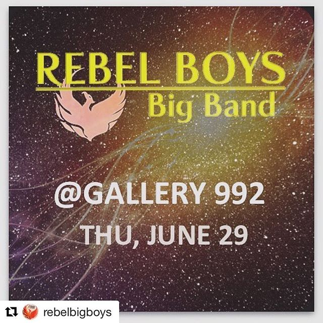 #Repost @rebelbigboys ・・・ We're back at @gallery992atl on June 29th with new, hot, and fresh sounds! #bigband #atlantajazz #atl