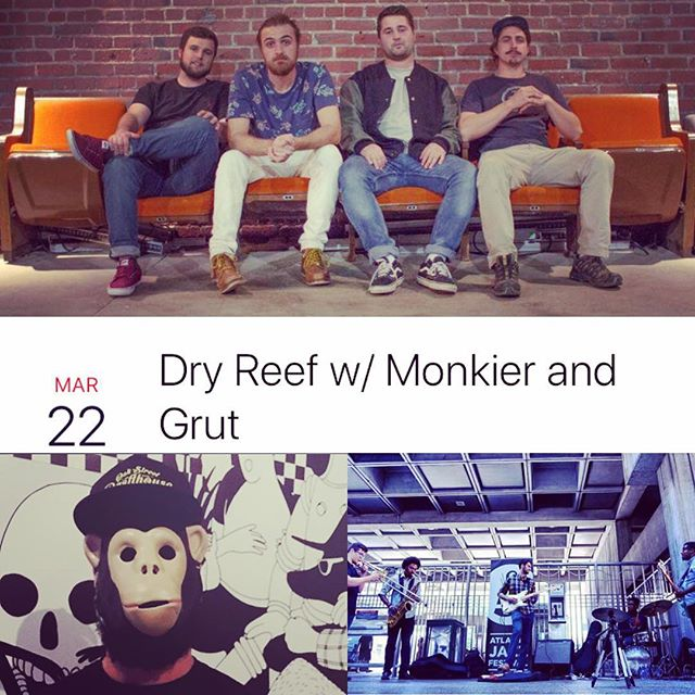 Next Thursday 3/22! It's going down at @smithsoldebar with @dryreef and @grutmusic. Ticket link in description. 🎷🔫 #atlmusic #surfrock #atlantajazz #atlantahiphop #sax