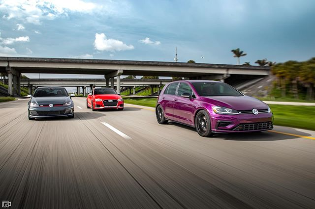 One of these things is not like the others.  Photo by @lrodriguez_media.  #SFLMK7 | #SFLVW #MQB #GTI #MK7 #GTIMK7 #MK7GTI  #GolfR #Golf7R #SpektrumVW #MTMUSA #MTM
