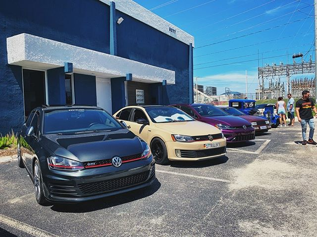 Great time out at LauderAle yesterday for @vibesandrides. HOT day, but great people and awesome cars. Thanks for having us!  #SFLMK7 | #SFLVW #GTI #MK7 #GTIMK7 #MK7GTI #VW #Volkswagen #VWlove
