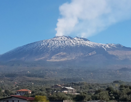 This is the view of Mount Etna from our balcony. This balcony is my favourite feature of our home and when the volcano is erupting we have a front row view!