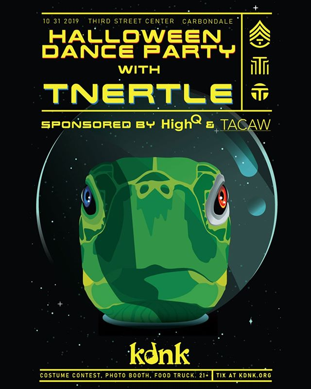 HighQ is proud to sponsor the KDNK Halloween Dance Party with Tnertle! Join us on Halloween night at Third Street Center in Carbondale for an evening of music, costume contests, and more! Event details here: https://www.facebook.com/events/2361527733966416/