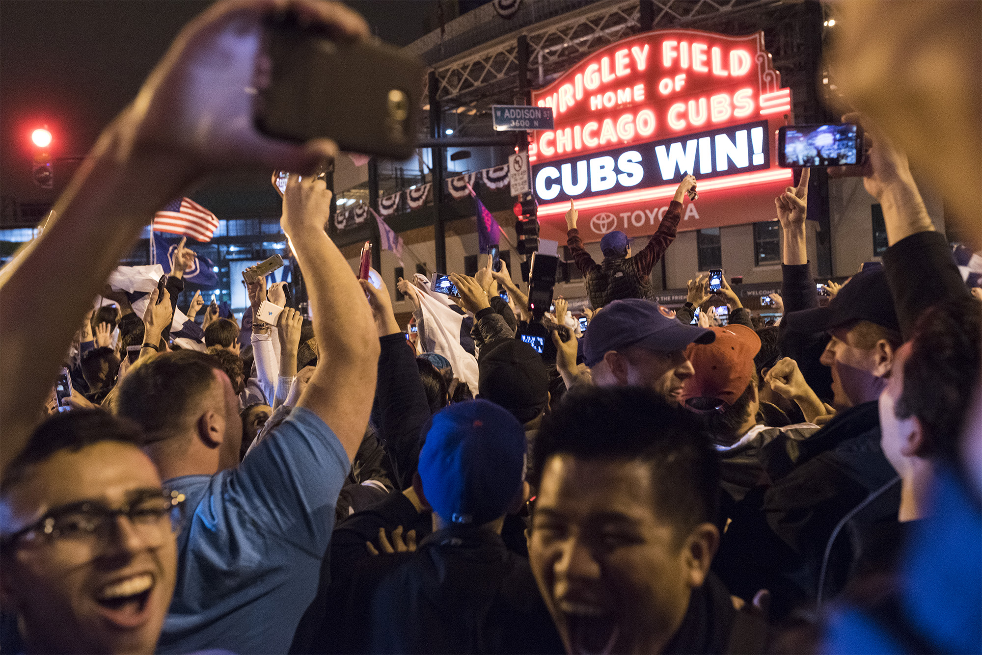 The Chicago Cubs break the curse winning the 2016 World Series during Game 7, which is the team's first win since 1908. Fans celebrated in Wrigleyville and across Chicago on Nov 2th.